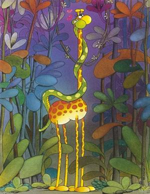 Puzzle Mordillo Giraffe