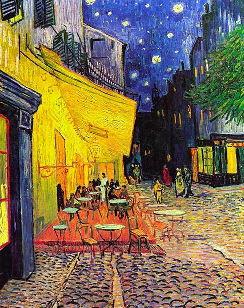 Puzzle Notte Stellata Sul Rodano Van Gogh 1000 Caffe Arles