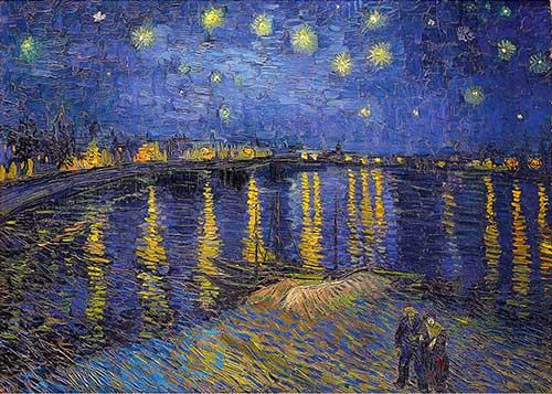 Puzzle Notte Stellata Sul Rodano Van Gogh 1000 Pezzi Dettaglio Immagine