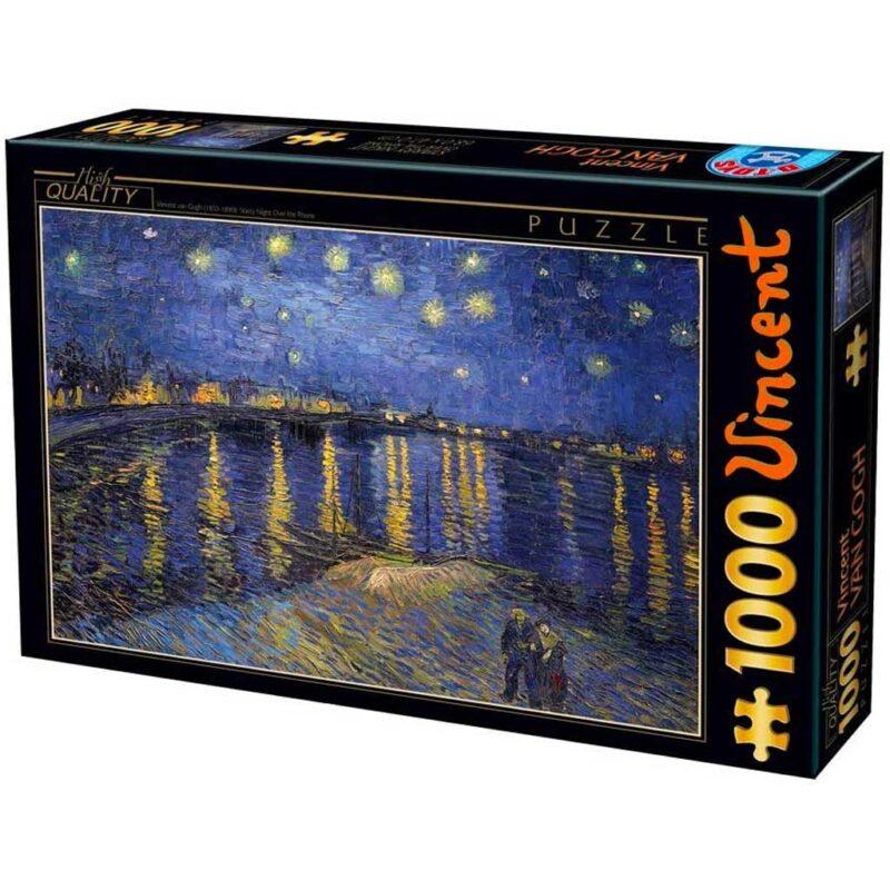 Puzzle Notte Stellata Sul Rodano Van Gogh 1000 Pezzi Dtoys