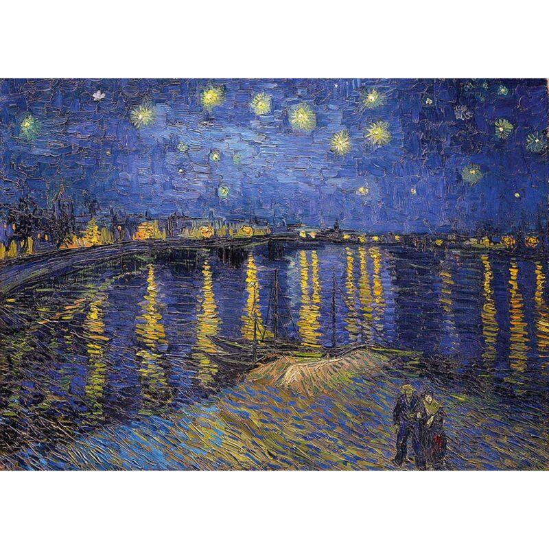 Puzzle Notte Stellata Sul Rodano Van Gogh 1000 Pezzi Dtoys Immagine
