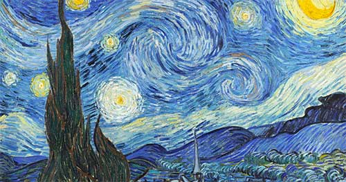 Puzzle Notte Stellata Van Gogh Cipresso Dettaglio