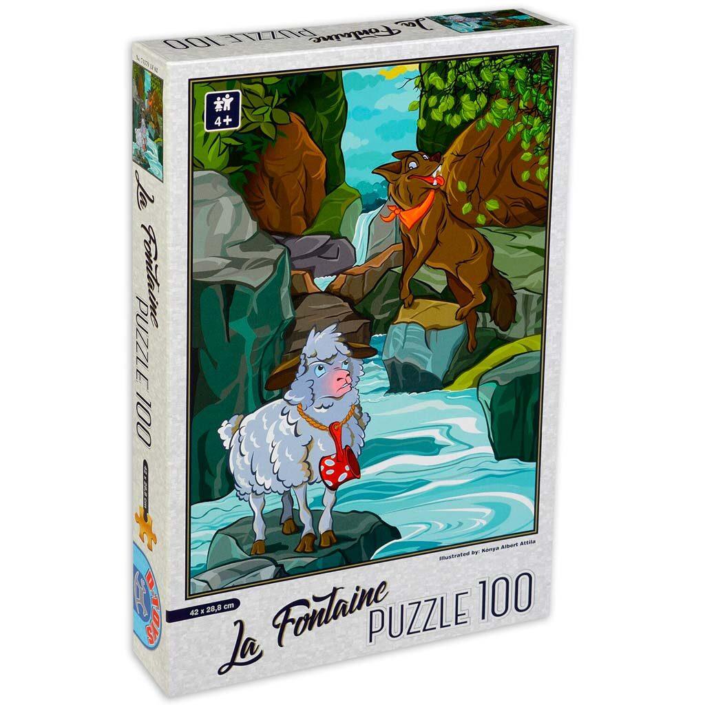Puzzle Per Bambini 4 Anni 100 Pezzi Lupo Agnello Dtoys
