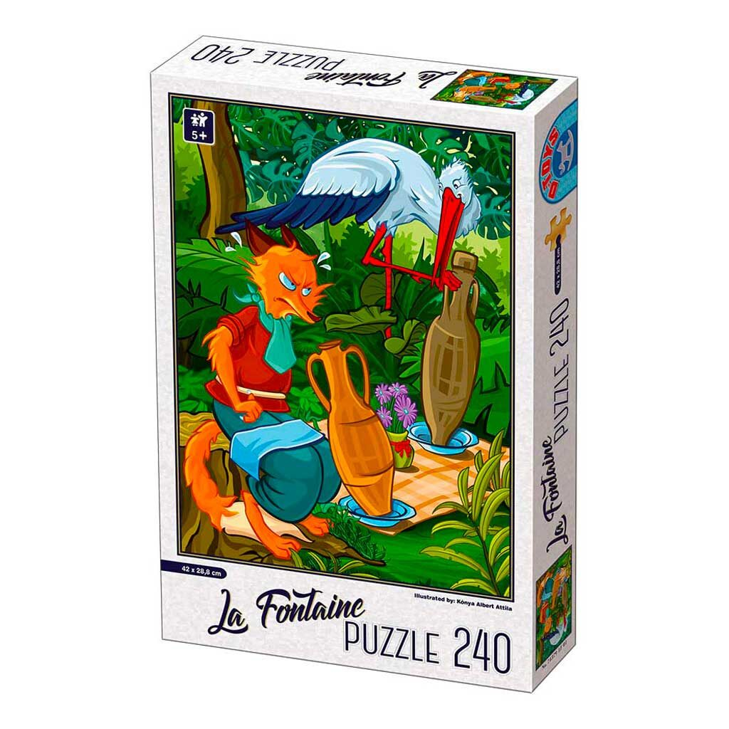 Puzzle Per Bambini 5 Anni 240 Pezzi La Volpe E La Cicogna
