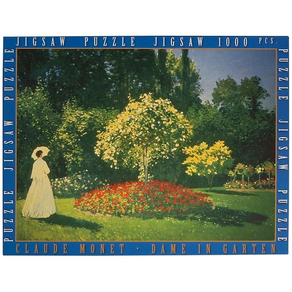 Signora In Giardino A Sainte Adresse Puzzle Monet Fronte