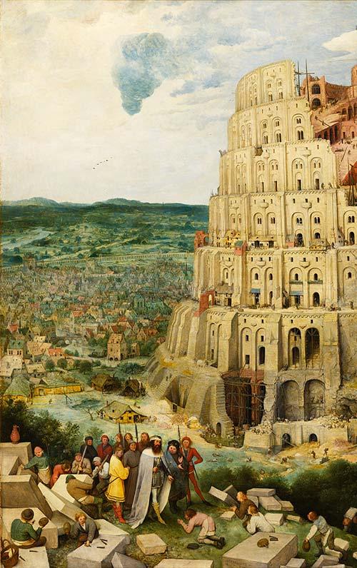 Torre Di Babele Brugel Particolare