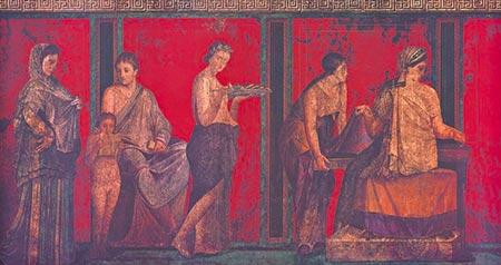 Villa Dei Misteri Fanciulla Offerente Pompei